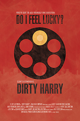 Dirty Harry Poster 1 - Various Sizes - Price Includes Uk Post - Clint Eastwood