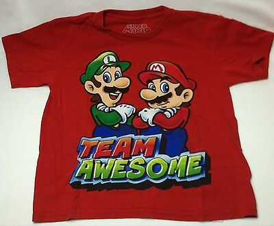 Super Mario Red T-shirt Kids Size Large 10/12