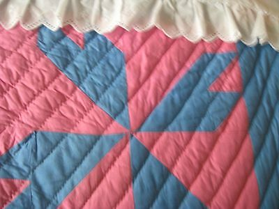 Vintage 30's Quilt, Never Used, 84X65, Patchwork, Crispy Clean And All Cotton