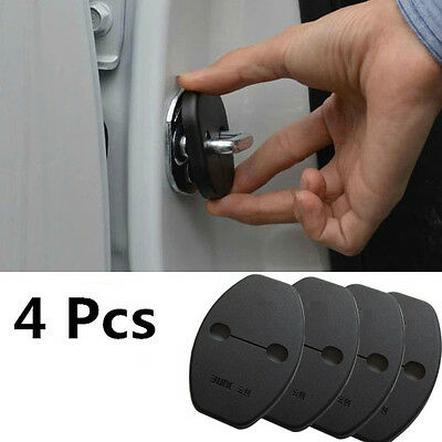 4 Pcs  Car Door Lock Buckle Protective Cover Pad Guard Protector For Skoda Seat