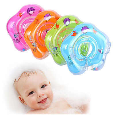 Inflatable Circle Newborn Baby Kids Neck Float Infant Swimming Swim Ring Safety