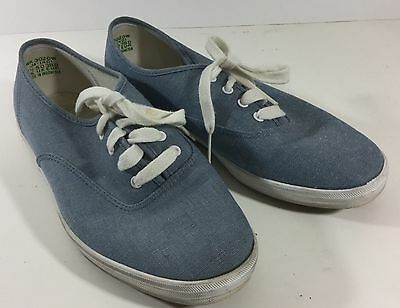 Womans's Keds Blue Denim sneakers Women's Size 7.5 shoes (wr)