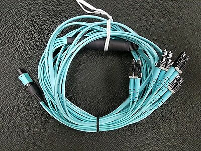 OM4 8-fiber MPO female to LC duplex 60CM (24inch) Equal Breakout QSFP 10FT Cable