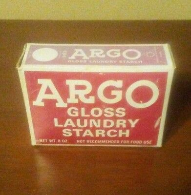 Vintage Argo Gloss Laundry Starch Never Opened 8 oz. box