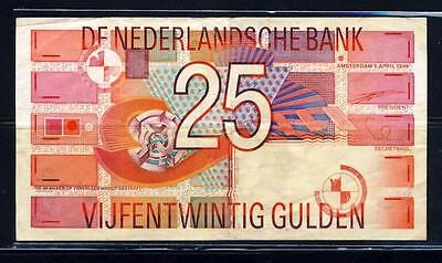 Netherlands 25 Gulden 1989 P100 Free Shipping Worldwide