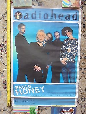 RADIOHEAD PABLO HONEY_used tour promo poster_ships from AUS!_xx72_sh11