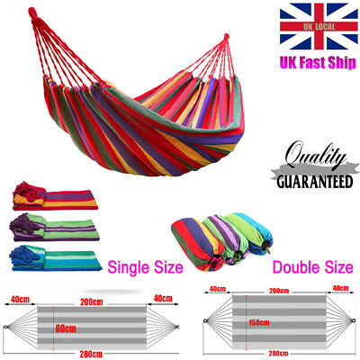 Single person Travel Camping Outdoor Cotton Hammock Parachute Sleep 3 Color NEW