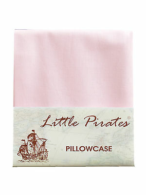 Brand New Baby Cot Bed Pillow Case 60 x 40 - 100% Luxury Cotton - Pink