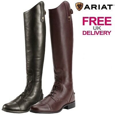 Ariat Heritage Contour Field Zip Tall Leather Riding Boots.