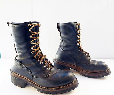 Vintage Red wing Men black work boots size 7 D