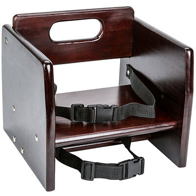 NEW Restaurant Wood Booster Seat / Chair with Mahogany Finish (Unassembled)