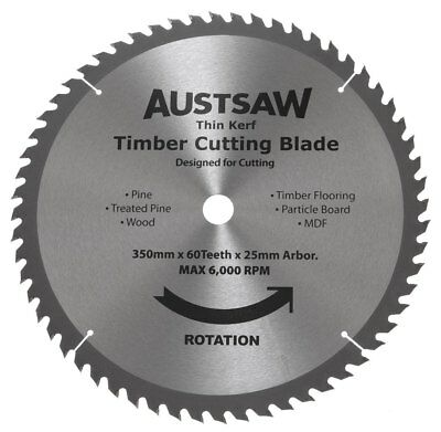 NEW Austsaw Thin Kerf Timber Cutting Blades