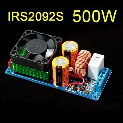 IRS2092S 500W Mono Channel Digital Amplifier Class D HIFI Power Amp Board +FAN L