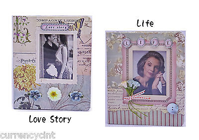 Free Shipping. Scrapbook style Handcrafted Embellished Themed Photo Album, 1pc.