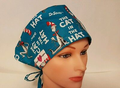 The Cat In The Hat /pixie Hat Scrub Surgical / Scrub /chemo  Hat