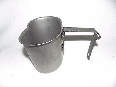 Government Issue US Military Surplus L Handle Canteen Cup Stainless Steel