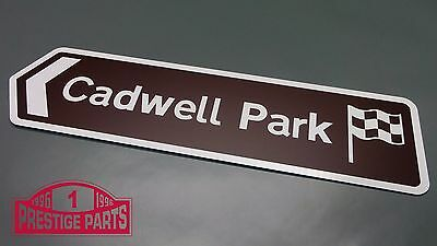Cadwell Park Composite Aluminium Directional Road Sign Garage Office Man Cave