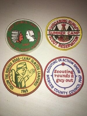 Boy Scouts Of America Lot Of 4 1960's Patches Vintage