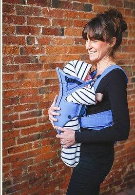 NOD POD Baby sling, Carrier, Car Seat BLANKET With Legs 0-6months BLUE