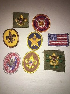 Boy Scouts Of America Lot Of 8 1960's-80's Uniform Patches Vintage