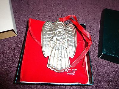 Towle 1995 Sterling Silver Angel with Red Velvet Pouch, Ribbon, Original Box