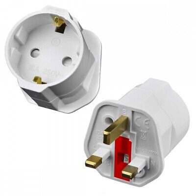 Conversor/adaptador/convertidor  De Enchufe De 2 Pins Euro A Enchufe Uk 3 Pins C