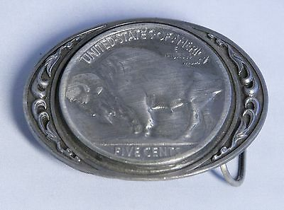 SISKIYOU United States Of America Five Cents Coin Buffalo Belt Buckle