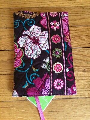 New Vera Bradley Paperback Book Cover Cotton Fabric Cover Mod Floral Retired