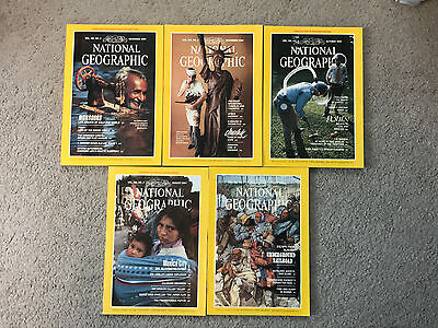 National Geographic Magazine 1984 December November October July August Lot