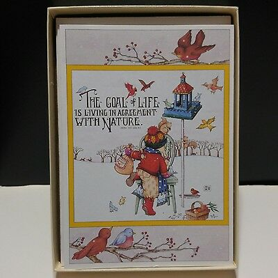 1989 Mary Engelbreit Note Cards w/ Envelopes The Goal of Life Box of 7