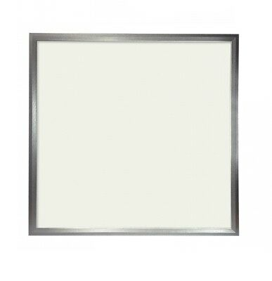 Panel LED Slim 60x60cm 48W Marco Plata 4100 LUMENS COLOR Blanco Calido 3000K(dri