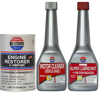 AMETECH RESTORE 3-PRODUCT BUNDLE to TREAT TOP END NOISE IN 1 LITRE ENGINES