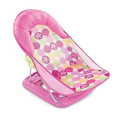 Baby Bath Summer Infant Bathtub Folding Deluxe Chair Support Seat Flower Dot New
