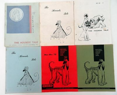 Lot of 6 Back Issues THE HOUNDS' TALE Afghan Hound Club of California 1968-1971