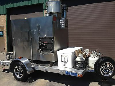 Southern Pride XLR1000 smoker on custom Mission aluminum trailer