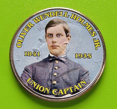 2011-P 50C - Kennedy Half Dollar - Colorized - Oliver Holmes - Union Captain