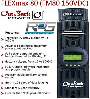 Outback FM80 MPPT Solar Charge Controller