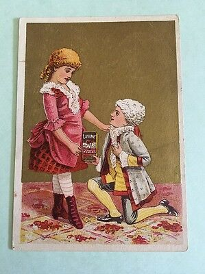 Victorian Trade Card Lavine Hartford Chemical Compy Boy and Girl B