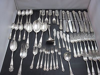 Georgian by Towle Sterling Silver Flatware Service Set 58 Pieces
