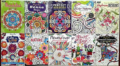 Adult coloring books, Lot of 10 Mandalas and more.