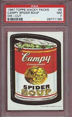 Wacky Packages Die Cut # 5 Campy Soup Psa 7 Nm 1967 High End