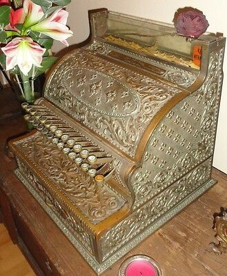 Regestrierkasse NATIONAL Cash Register Co Dayton.Ohio.USA, massive Bronze um1890