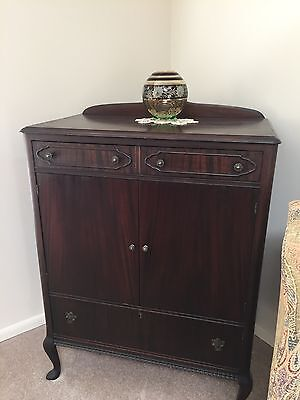 antique dresser set. wood.