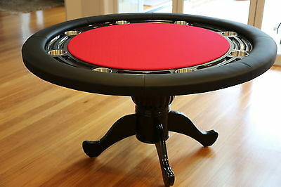"The Moneymaker 55"" Professional Poker Table 8 Seater Red Suited Speed Cloth"