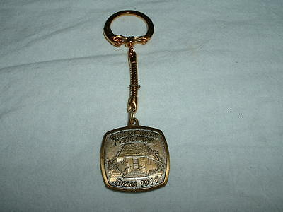 Vintage Metal Key Chain Fob Grand Marsh State Bank Wisconsin Since 1914  Rare