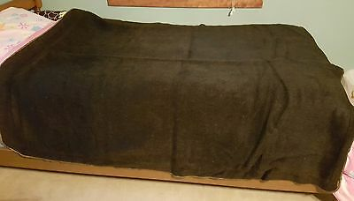"""antique horsehair carriage blanket, 67""""x55"""""""