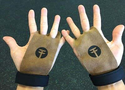 Leather Gymnastics Grips - trained.to WOD grips Weight Lifting, Crossfit Etc