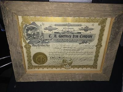 C.A. Guernsey Iron Company Stock Certificate