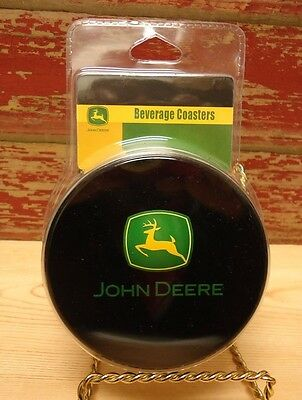 John Deere Coaster Set of 6 with Storage Tin