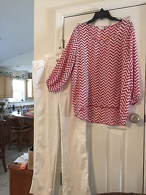 Women's Size 16m Pant & 1x Top Clothing Lot